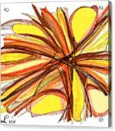 2010 Abstract Drawing Thirteen Acrylic Print