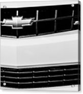 2010 Chevrolet Nickey Camaro Ss Grille Emblem -0078bw Acrylic Print