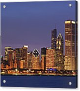 2010 Chicago Skyline Acrylic Print