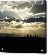2010 June 4 Sunset Over Denver Acrylic Print