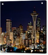 2010 Seattle Earth Hour A350 Acrylic Print