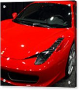 2011 Ferrari 458 Italia . 7d9397 Acrylic Print by Wingsdomain Art and Photography