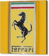 2012 Ferrari Hood Emblem Acrylic Print