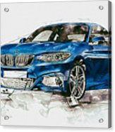 2014 B M W 2 Series Coupe With 3d Badge Acrylic Print