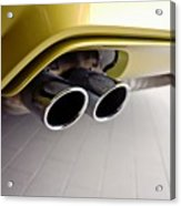 2015 Bmw M4 Exhaust Acrylic Print by Aaron Berg