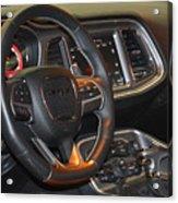 2015 Dodge Challenger Srt Hellcat Interior Acrylic Print