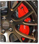 2015 Dodge Challenger Srt Hellcat Wheel Acrylic Print