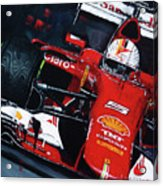 2015 F1 Ferrari Sf15-t Vettel Acrylic Print