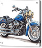 2015 Harley Softail Deluxe Acrylic Print