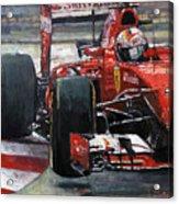2015 Hungary Gp Ferrari Sf15t Vettel Winner Acrylic Print