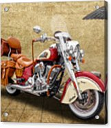2015 Indian Chief Vintage Motorcycle - 1 Acrylic Print