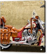 2015 Indian Chief Vintage Motorcycle - 2 Acrylic Print