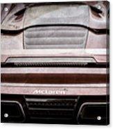 2015 Mclaren 650s Spider Rear Emblem -0011ac Acrylic Print
