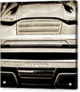 2015 Mclaren 650s Spider Rear Emblem -0011s Acrylic Print