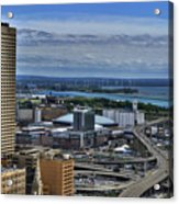 2015 View Of The Skyway And New Harbor  Acrylic Print