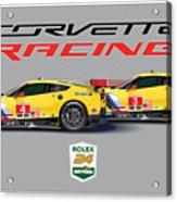 2016 Daytona 24 Hour Corvette Poster Acrylic Print