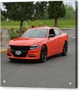 2016 Dodge Charger Rt Ragen Acrylic Print