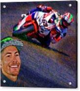 2016 Fim Superbike Nicky Hayden Acrylic Print