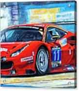2016 Hankook 24h Epilog Brno Ferrari 488 Gt3 Winner Acrylic Print