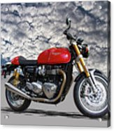 2016 Triumph Cafe Racer Motorcycle Acrylic Print