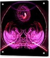 201606040-039b Bowl Of Fireworks 4x5 Acrylic Print