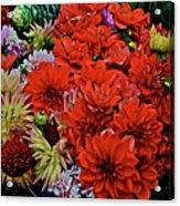 2017 Mid October Monona Farmers' Market Buckets Of Blossoms 1 Acrylic Print