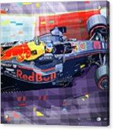 2017 Singapore Gp Red Bull Racing Ricciardo Acrylic Print