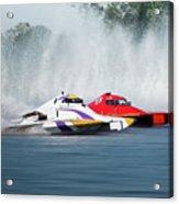 2017 Taree Race Boats 05 Acrylic Print