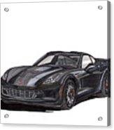 2017 Triple Black Corvette Acrylic Print