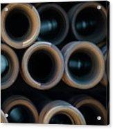 2017_05_midland Tx_drill Pipe Lights 2 Acrylic Print