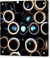 2017_05_midland Tx_drill Pipe Lights 3  Acrylic Print