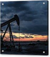 2017_08_midkiff Tx_sunset Pump Jack 4 Acrylic Print