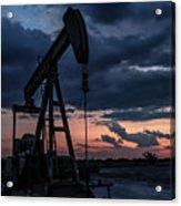 2017_08_midkiff Tx_sunset Pump Jack 7 Acrylic Print