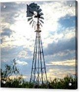 2017_08_midland Tx_windmill 2 Acrylic Print