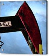2017_09_midkiff Tx_oil Well Pump Jack Closeup 2 Acrylic Print