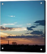 2017_09_midkiff Tx_rigs At Sunset 1 Acrylic Print