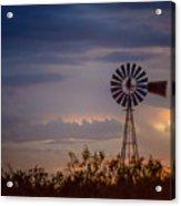 2017_09_midland Tx_windmill 11 Acrylic Print
