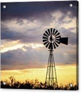 2017_09_midland Tx_windmill 3 Acrylic Print