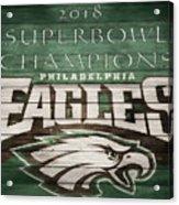 2018 Superbowl Eagles Barn Wall Acrylic Print