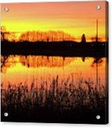 2018_2_12  Vivid Sunset Reflection-4291 Acrylic Print
