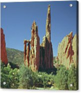 210806-h Spires In Garden Of The Gods Acrylic Print