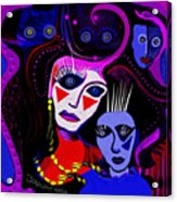 215   Mother And Child  Clowns A  Acrylic Print