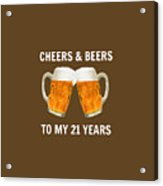 21st Birthday Gifts For Him Her Acrylic Print