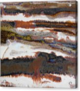 22. V2 Rustic Brown, Red And White Glaze Painting Acrylic Print