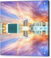 22nd Century Floating Cities Sunrise 01 Acrylic Print