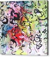 Abstract Calligraphy Acrylic Print