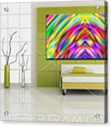 An Example Of Modern Art By Rolf Bertram In An Interior Design Setting Acrylic Print