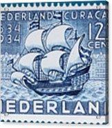 Old Dutch Postage Stamp Acrylic Print