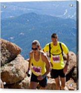 Pikes Peak Marathon And Ascent Acrylic Print