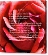 23rd Psalm Acrylic Print